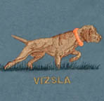Vizsla embroidery golden rust colours
