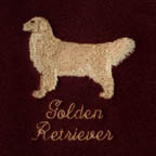 Golden Retriever embroidery colours